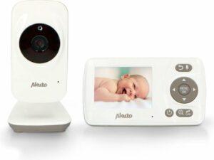 Alecto Baby DVM-71 Babyfoon met camera en 2.4 scherm - Uitbreidbaar tot 4 camera's - Temperatuursensor - wit-taupe