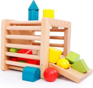 Extra Grote Massief Beukenhout Vormenstoof vanaf 6 maand - Montessori Leermiddelen