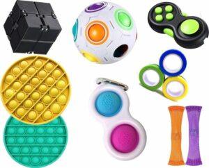 Fidget Toys Pakket - 9 Toys Set - Fidget Cube - Fidget Pop It