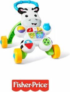 Fisher-Price - Loopwagen - Looptrainer - Zebra - leren lopen - Activiteiten centrum - Geluiden - Baby