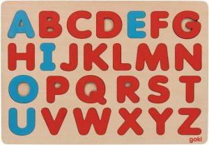 Goki Alphabet puzzle in Montessori style