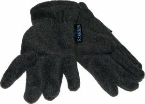 Handschoenen Kinderen 5-6j. Donker Grijs, Fleece, Zacht, Warm, Soepel