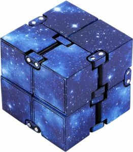Infinity cube Space Blauw – Fidget cube