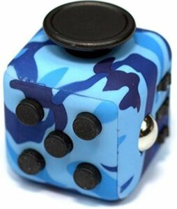 Kwalitatieve Fidget Cube - FriemelKubus - Anti Stress Speelgoed - Fidget Toy - Camo-Blauw