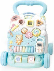 Loopwagen - Loopstoeltje baby - Loopkar - Loopwagen 1 jaar - Loopwagens - Speelwagen - Looptrainer - Baby walker - Baby loopwagen - Activity Walker - Blue