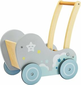 Mamabrum Houten Baby Walker - Loopkarretje Duwkar - Duw Wagen Kar - Loophulp Duwwagen Looprek