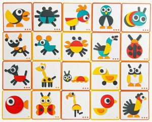 Montessori geometrische vormen, 29 stuks puzzel