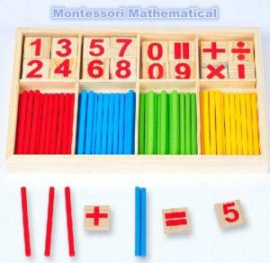 Montessori wiskunde speelgoed rekenen tellen voorschoolse spillen houten speelgoed kinderen educatief speelgoed voor kinderen kinderen - cadeau kinderen
