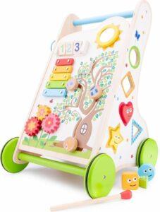 New Classic Toys Houten Activiteiten Duw- Loopwagen