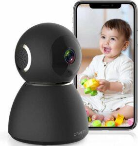 Orretti® X3 Babyfoon – Smartphone WiFi Beveiligingscamera – Geluidsdetectie - Terugspreekfunctie – Huisdier camera