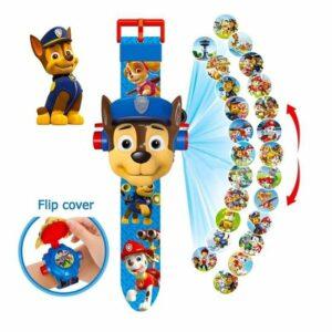 PAW Patrol Chase Projector Horloge - Digitale Kinder Horloge - Speelgoed Watch- Marshall - Rubble