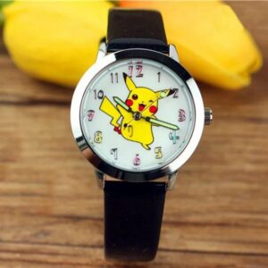 Pokemon horloge, Pikachu watch zwart bandje