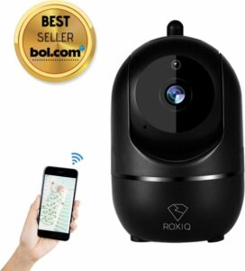 Roxiq babyfoon BF1 zwart - 1080P HD wifi camera - met app functie - geluidsdetectie