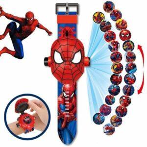Spiderman Marvel Projector Horloge - Digitale Kinder Horloge - Speelgoed Watch